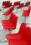 Red modern chair outside Royalty Free Stock Photo
