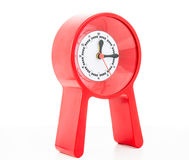 Red modern clock isolated Stock Images