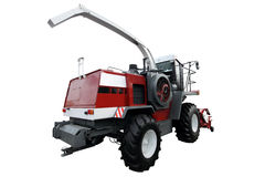 Red modern combine Royalty Free Stock Photo