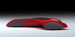 Red Modern Concept Car Royalty Free Stock Image