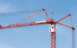 Red modern crane Royalty Free Stock Image