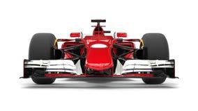 Red modern formula racing car - front view closeup Stock Photo
