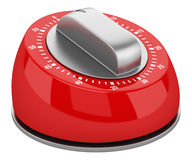 Red modern kitchen timer isolated on white Royalty Free Stock Photos
