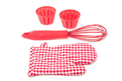 Red modern kitchen tools Royalty Free Stock Photography
