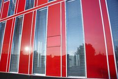 Red modern office building 04 Stock Photo