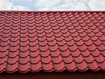 Red modern roof Royalty Free Stock Image