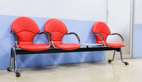 Red modern seat. In front of room Royalty Free Stock Images