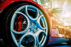 Red modern sport car Royalty Free Stock Photography
