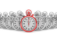 Red modern Stopwatch Royalty Free Stock Images