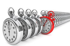 Red modern Stopwatch Stock Images