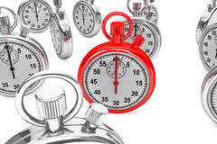 Red modern Stopwatch Stock Image