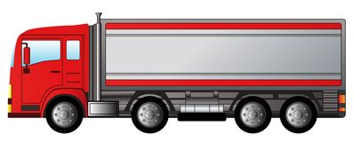 Red modern truck Stock Images