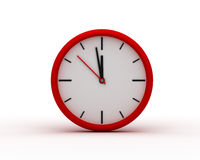 Red Modern Wall Clock Royalty Free Stock Photo