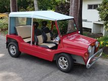 Red Moke on Bequia Royalty Free Stock Images