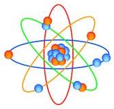 Red molecular del átomo stock de ilustración