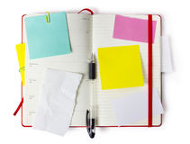 Red Moleskine with clipping path. Red notebook  or calendar or organizer with precise clipping path Royalty Free Stock Photos