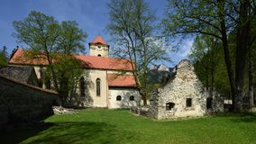 Red Monastery Museum, Spis region, Slovakia. Historical baroque architecture and ruins of Red monastery in Spis region - Slovakia royalty free stock image