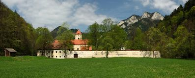 Red Monastery Museum, Spis region, Slovakia. Red monastery church and museum in Pieniny mountains - Spis region - Slovakia royalty free stock photos