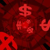 Red money background Stock Image