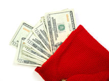 Red money bag Royalty Free Stock Image