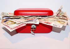 Red Money Box Money Royalty Free Stock Images
