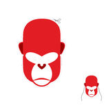 Red monkey mask for new year. Carnival mask to celebrate Royalty Free Stock Image