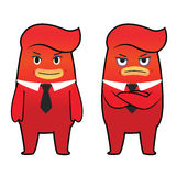 Red monster cartoon character Stock Photos