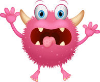 Red monster cartoon Stock Image