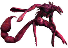 Red monster with a scorpion tail Royalty Free Stock Photos