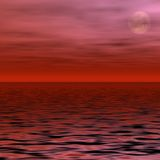 Red Moon. Moon glowing through red clouds Stock Image