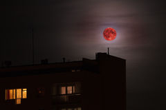 Red moon - bloodmoon Royalty Free Stock Images