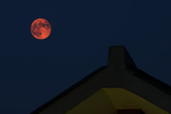 Red Moon in Lunar Eclipse Royalty Free Stock Image