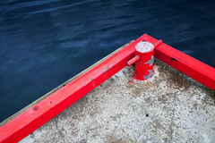 Red mooring bollard Royalty Free Stock Photography