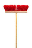Red mop. Beautiful red mop on a white background stock images