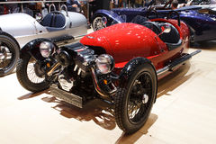 Red Morgan 3 Wheeler Geneva Motor Show 2015 Stock Photography