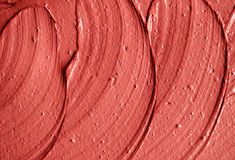 Red moroccan cosmetic clay texture close up. Royalty Free Stock Photo