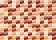 Red mosaic. Red glass mosaic in various shape Stock Photography