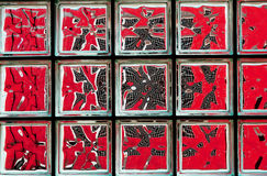 Red mosaic Stock Photography