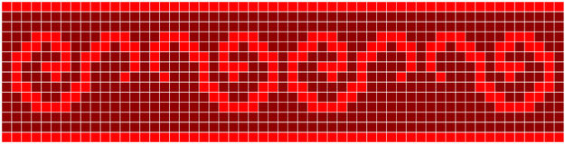 Red Mosaic Stock Photo