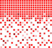 Red mosaic background Stock Image