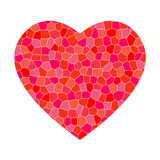 Red mosaic heart Stock Image