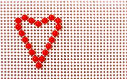 Red mosaic heart on white background, valentines day Royalty Free Stock Photography