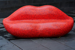 Red Mosaic Lips Royalty Free Stock Photos