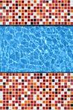 Red mosaic pavement pool Royalty Free Stock Photo