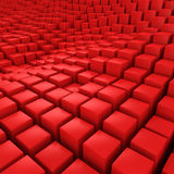 Red mosaic surface Royalty Free Stock Image