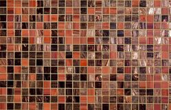 Red mosaic texture. Red and brown tessellated mosaic texture for abstract background Stock Image