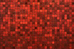 Red mosaic texture background Stock Photography