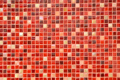 Red Mosaic Tile Background Royalty Free Stock Images