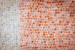 Red mosaic tile wall Stock Image