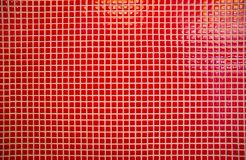 Red mosaic tiles Royalty Free Stock Image